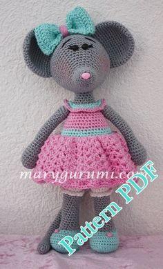 Pattern Amigurumi Mme Souris Au Crochet Oyuncak Souris
