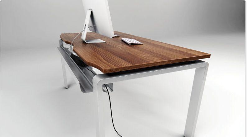 Nice Walnut Office Desk Bench System Modern Office Furniture Uk