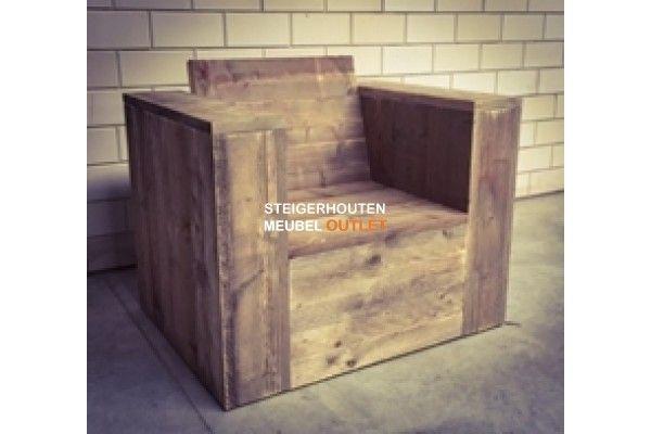 Steigerhouten lounche stoel long reach steigerhouten meubelen