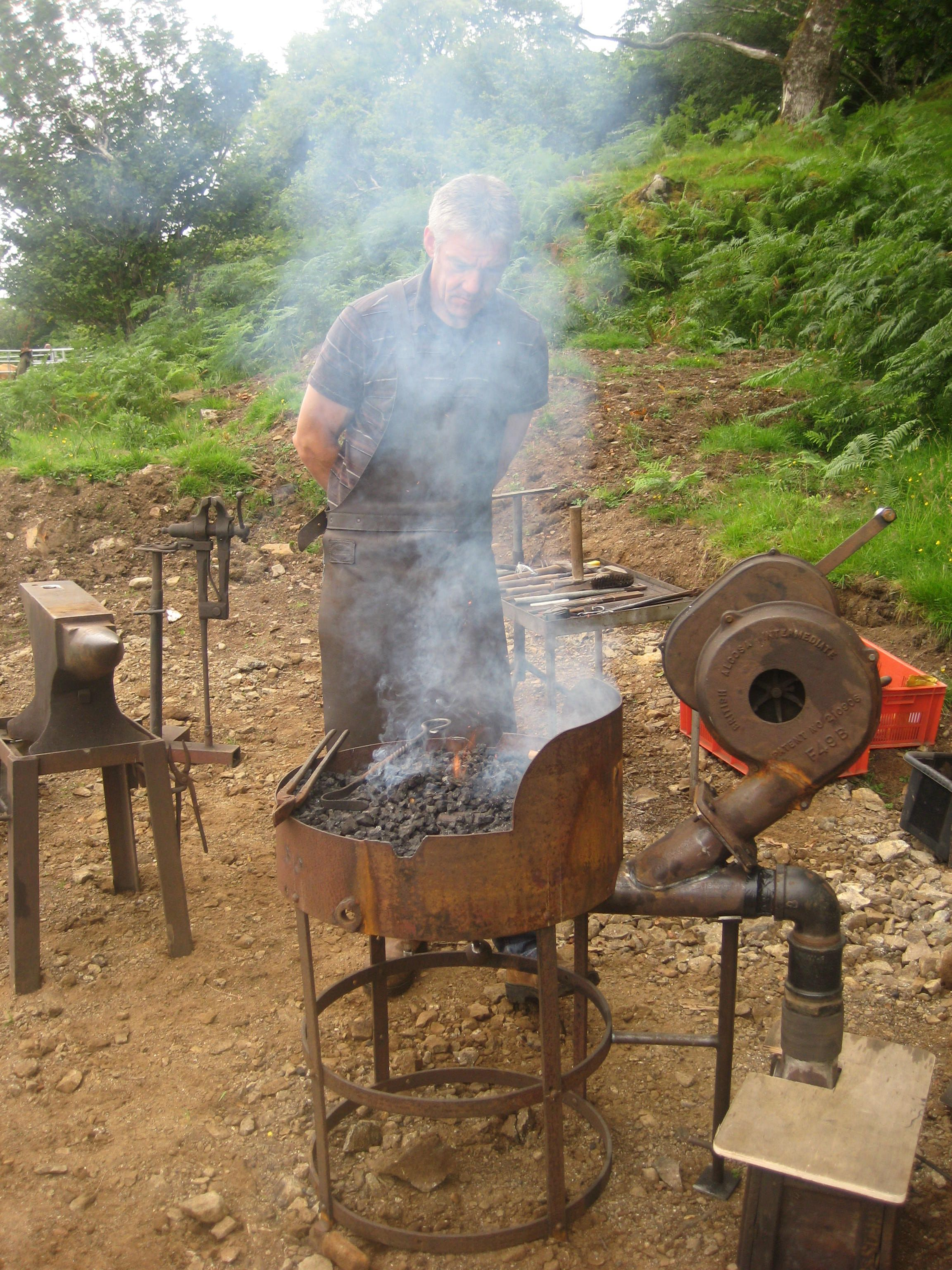 portable forge - now this one needs a bit more room ...
