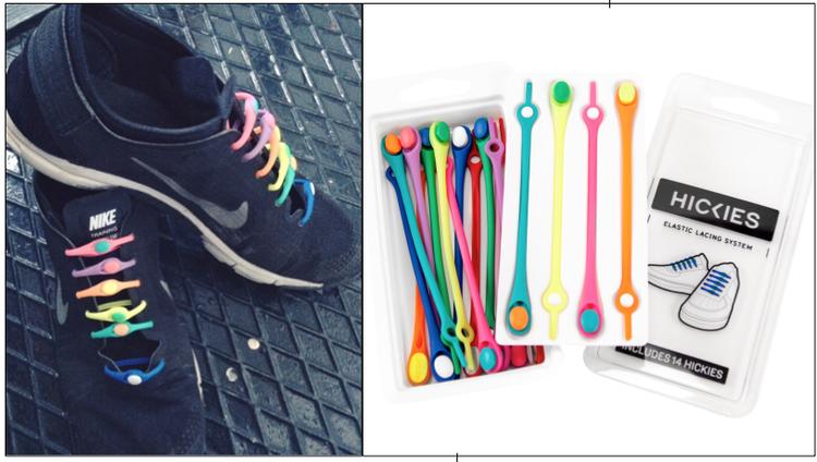 Hickies plastic bandlardan olusan yeni bir ayak bagi cesidi. Her rengi var. Fiyati da gayet uygun, $14.99 dolar ve paketler 14 tane plastik banddan olusuyor. Ayakkabi baglamaktan nefret eden ya da ogrenemeyenler icin muhtesem bir cozum.