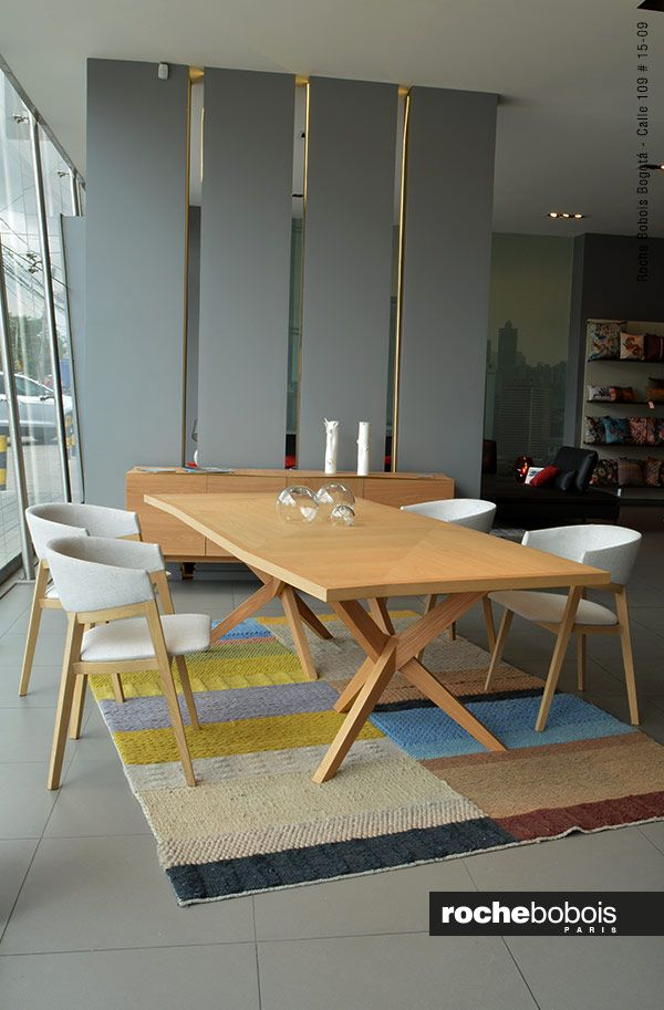 MESA DE COMEDOR JANE diseño Christophe Delcourt Mesa de comedor con ...