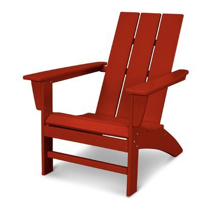 Polywood Modern Adirondack Recycled Plastic Chair In 2020 Red