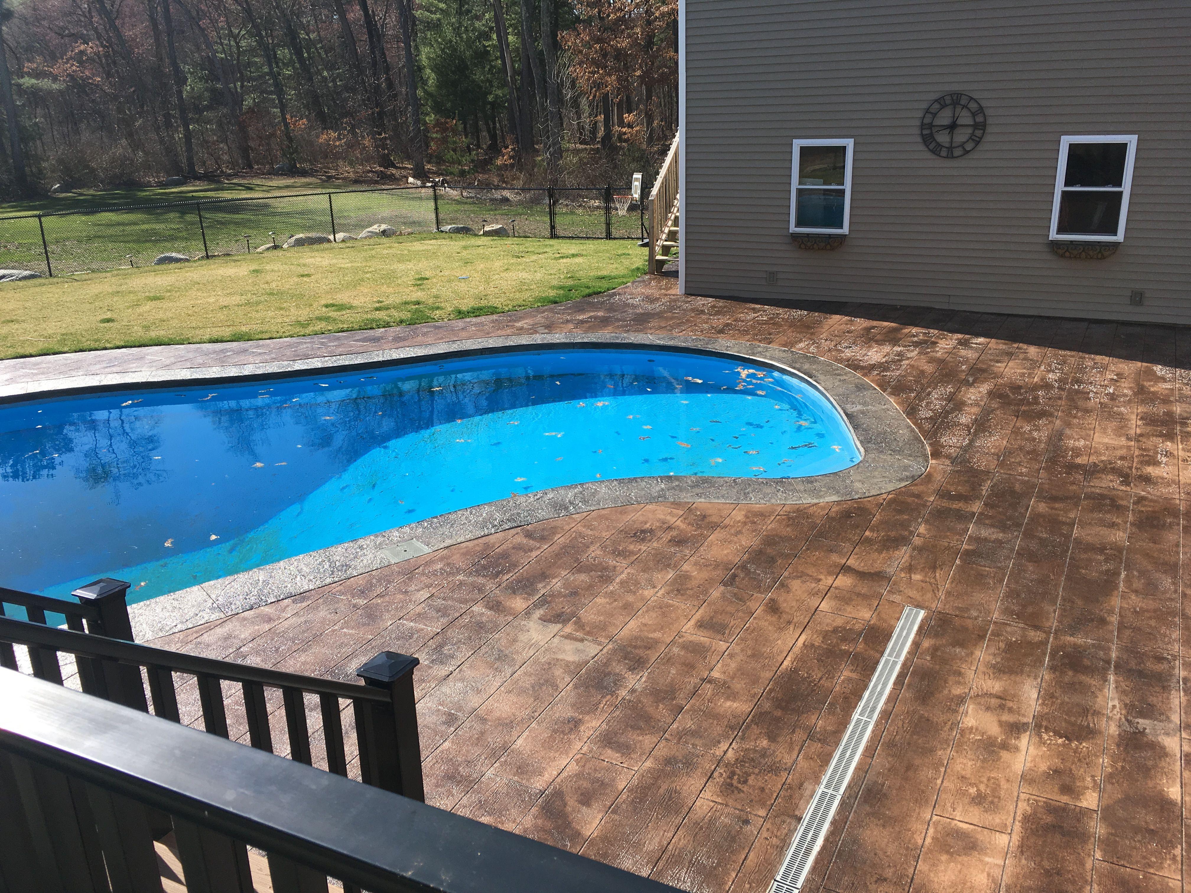 Our Stampcrete Patio Around Pool