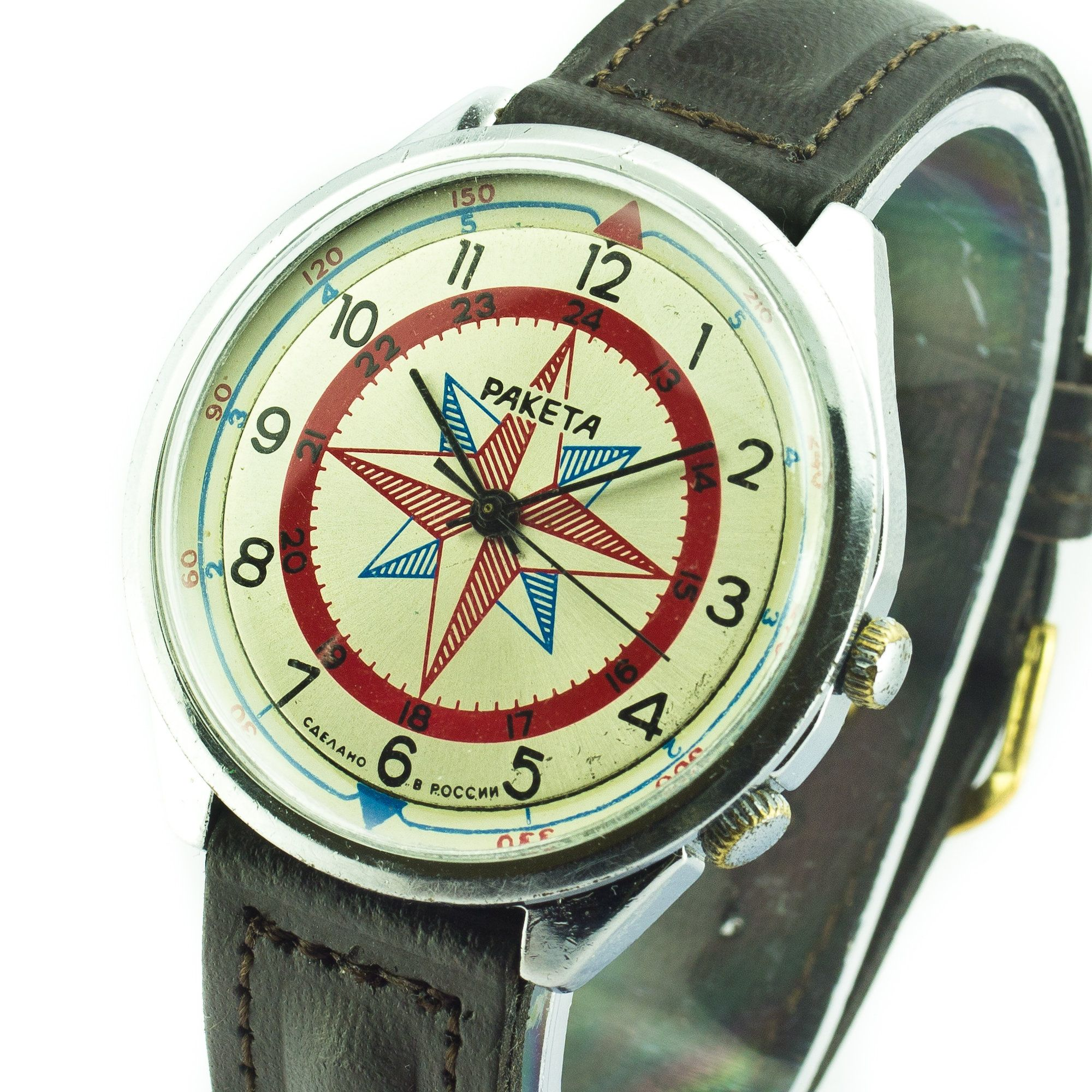 Raketa Compass Vintage Soviet Watch Mechanical Ussr Russian Watch Ussr Watch Montre Uhr Reloj Zegarek Russia Watch Vintage Watches Vintage Soviet Raketa