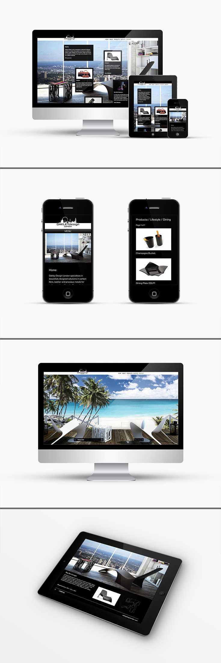 3f89ccd835 Responsive website design for Oakley Design London