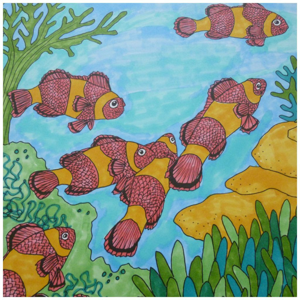 Tropisch Koraalrif Kleurboek Kleurboek Koraalrif Tropisch