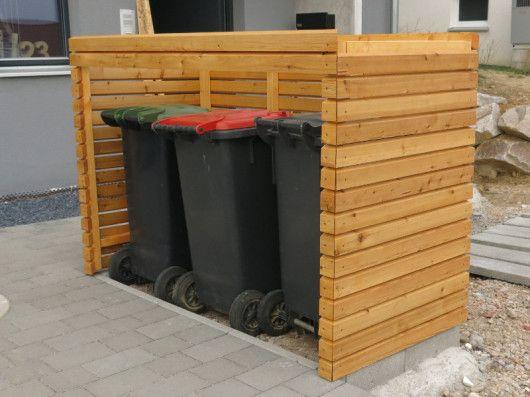 mülltonnenbox von vorne | außenanlage | pinterest | backyard and, Moderne