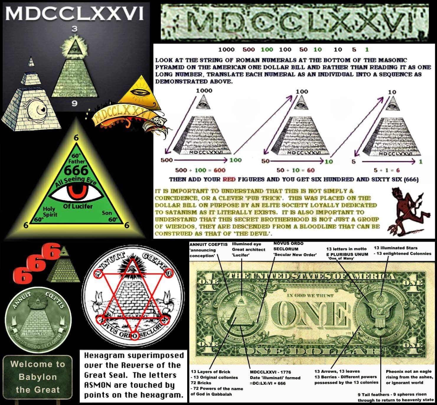 666 Masonic Money | Símbolos masónicos, Simbolos illuminatis, Antiguo arte  egipcio