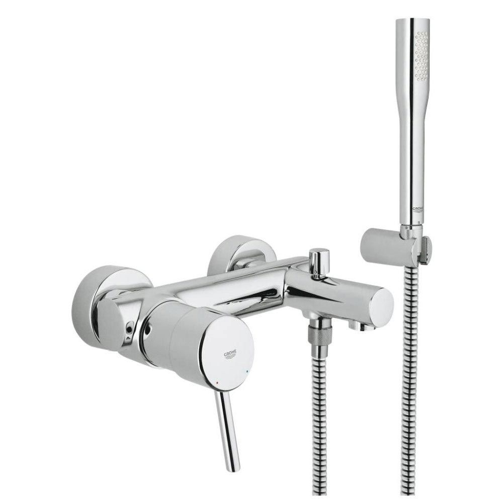 Grohe Concetto Wall Mounted Bath Shower Mixer and Kit - 32212001 ...