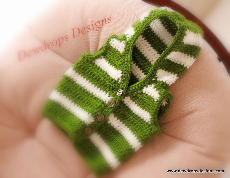 Pattern Crochet Sweater Hoodie Jacket unisex Boys Girls Toddler Baby ...