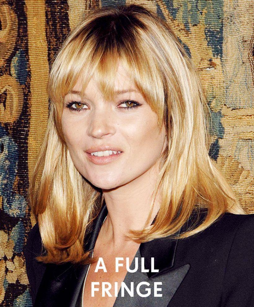 Awesome full fringe hairstyle ideas for medium hair full fringe