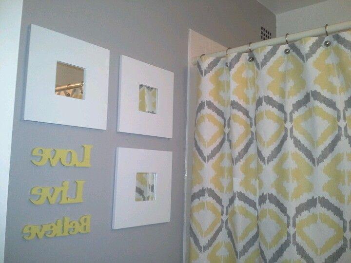 Yellow Gray Bathroom Inspiration Yellow Bathroom Decor Yellow Bathrooms Modern Bathroom Wall Decor