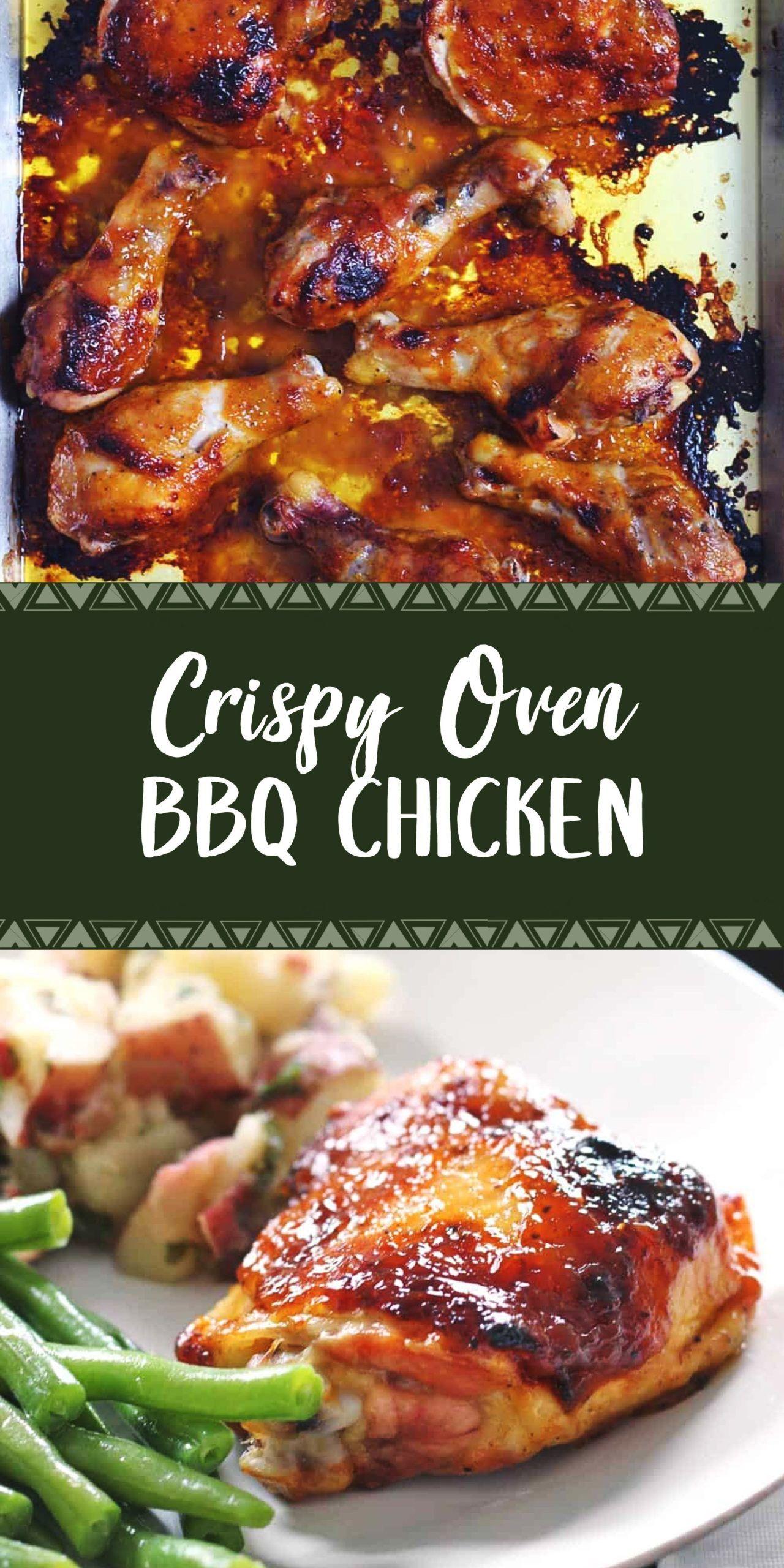 Crispy Oven Bbq Chicken Healthy Chicken Recipes Chicken Recipes Chicken Crockpot Recipes