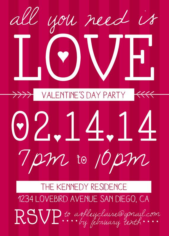ValentineS Day Party Invitation  Holidays And Themes