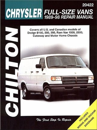 Dodge B150 250 350 Ram Van 1500 2500 Repair Manual 1989 1998 Totaled Car Repair Manuals Car Care