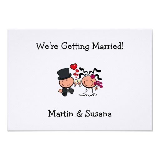 Edmonton Wedding Invitations: Wedding Couple Cartoon Invitation
