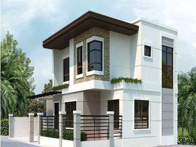 Two floor houses with 3rd floor serving as a roof deck for Modern zen house design with roof deck