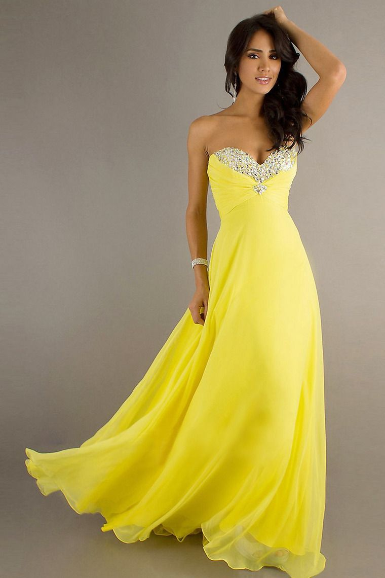 prom dresses beading sequins a line floor length chiffon