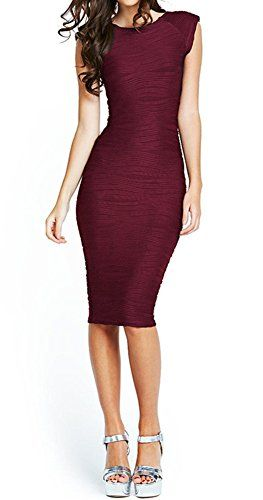 49002a4e09 Taydey Womens Midi Dresses Sleeveless Knee Length Party Evening Dress  Medium Burgundy     You can get more details by clicking on the image.