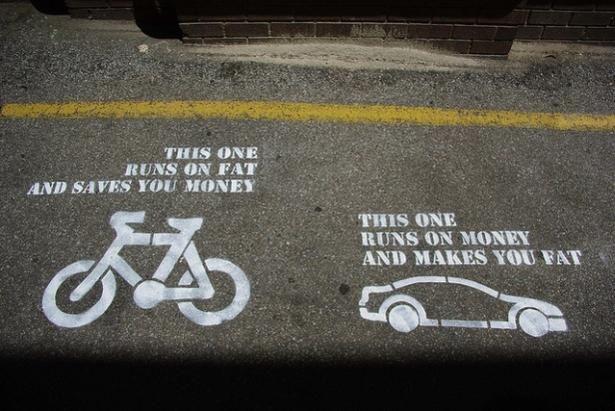 Bikes Vs Cars A Visual Cycling Quotes Street Art Utopia Words
