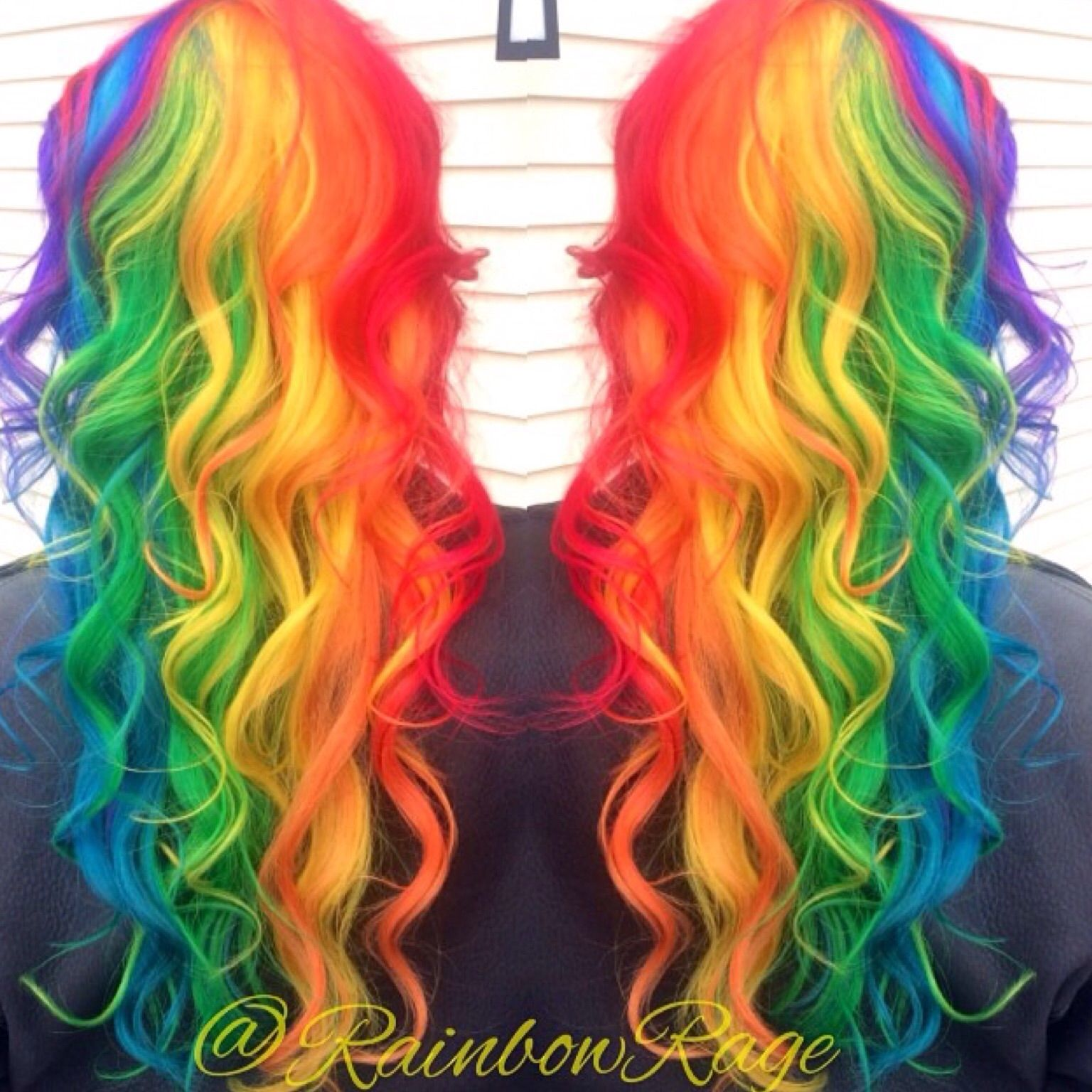 Fashion week Ombre Rainbow hair dye for girls