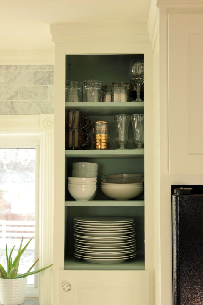 Kitchen Upper Cabinets Doorless Right | Kitchen renovation ...