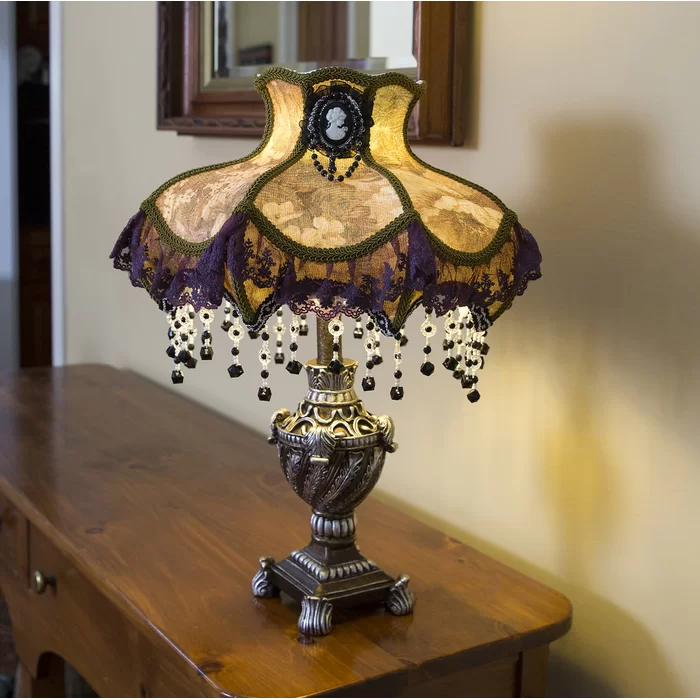 """Fernagh Laced Victorian 22"""" Table Lamp"""