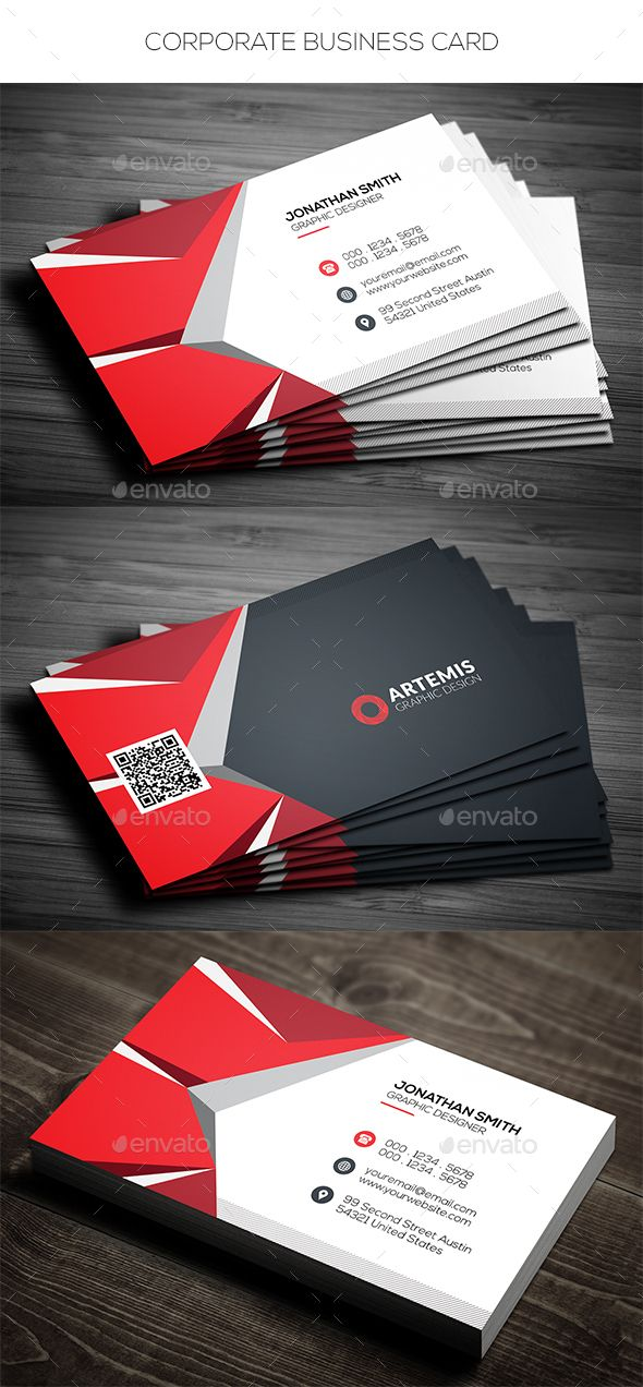 Corporate business card pinterest cartes de visita visita e carto corporate business card photoshop psd abstract card available here https reheart Gallery