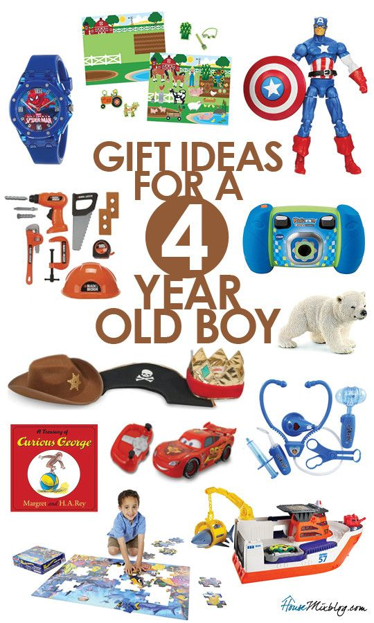 Gift ideas for 4-year-old boys | Gifts | Old boys, 4 year old boy, Boys