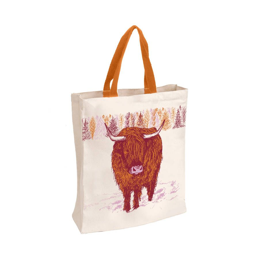 Highland Cow Tote Bag By Cherith Harrison Notonthehighstreet
