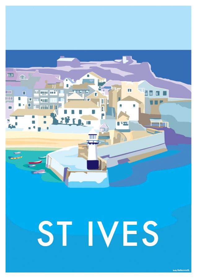 Vintage Style Railway Poster St Ives Cornwall A4//A3//A2 Print