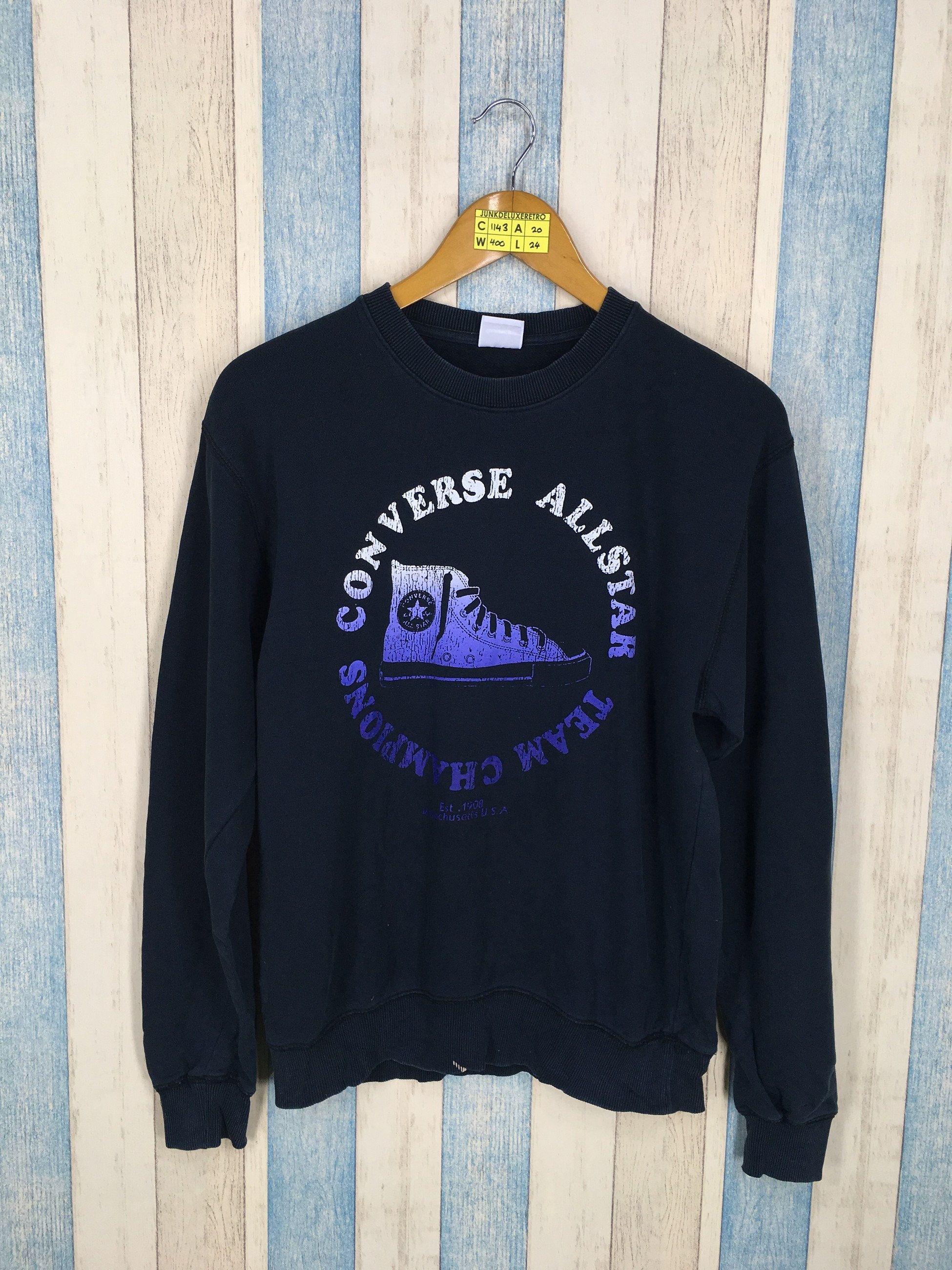 ca4ad44b6a09c CONVERSE All Star Sweatshirt Unisex Medium Vintage 90's Chuck Taylor ...