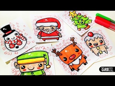 how to draw cute christmas easy drawings by garbi kw art tuto