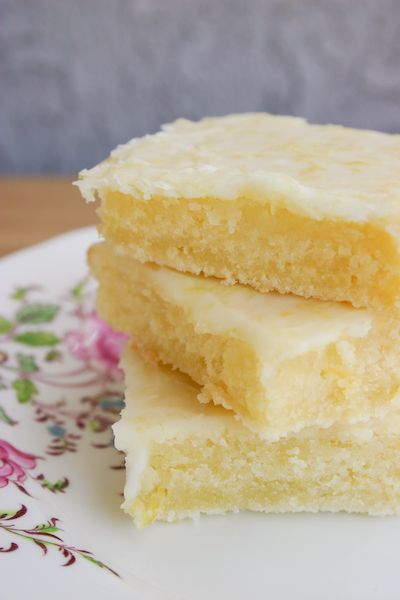 "Cakey Lemon Bar ""Brownies."""