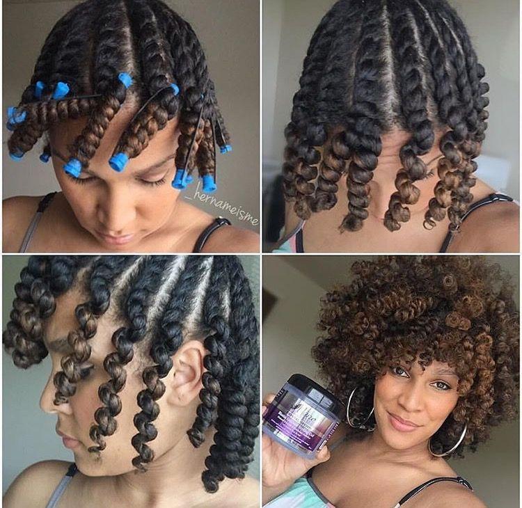Twist Out On Natural Hair Blackhaircare Natural Hair Styles Short Curly Hair Hair Styles