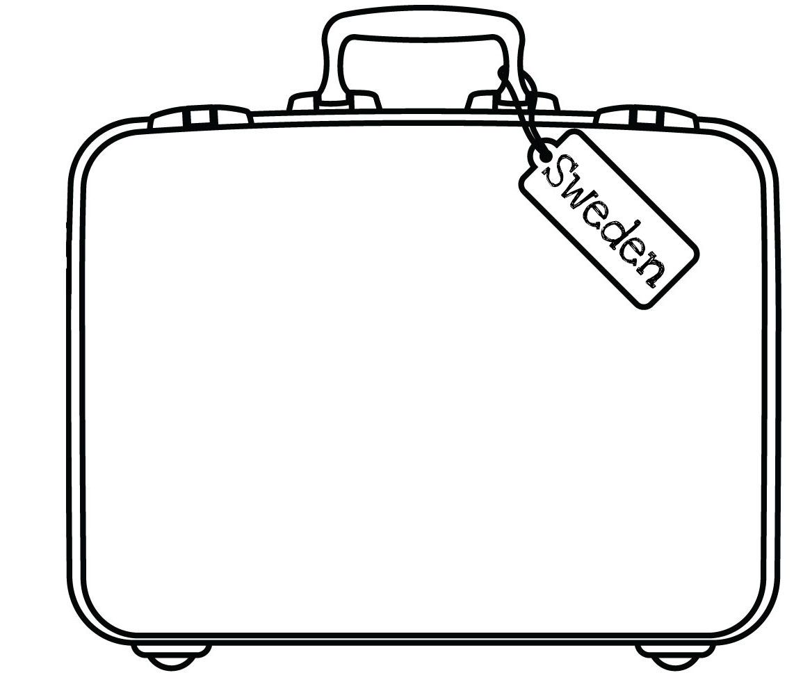 Suitcase Flat Sketch For Design Google Search Suitcase Coloring Books Printable Planner