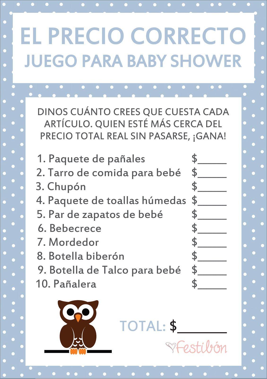 Resultado De Imagen Para Juegos Para Baby Shower Mixto Babyshower