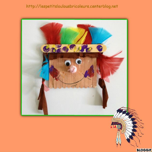 Popsicle Stick Native American Kids Native American
