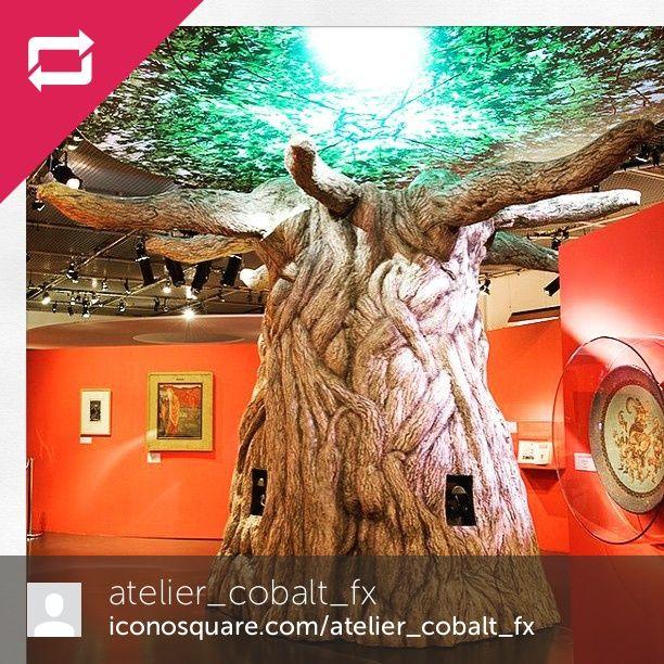 Regram from @atelier_cobalt_fx  #cobaltfx #ateliercobaltfx #arbre #tree #decor #musee #museographie #champslibres #sculpture #merlin #legendeduroiarthur #roiarthur #fantasy #legende #broceliande #trompeloeil #foret #forest