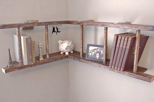 Old Ladders Repurposed As Home Decor Repurposed Ladders Old