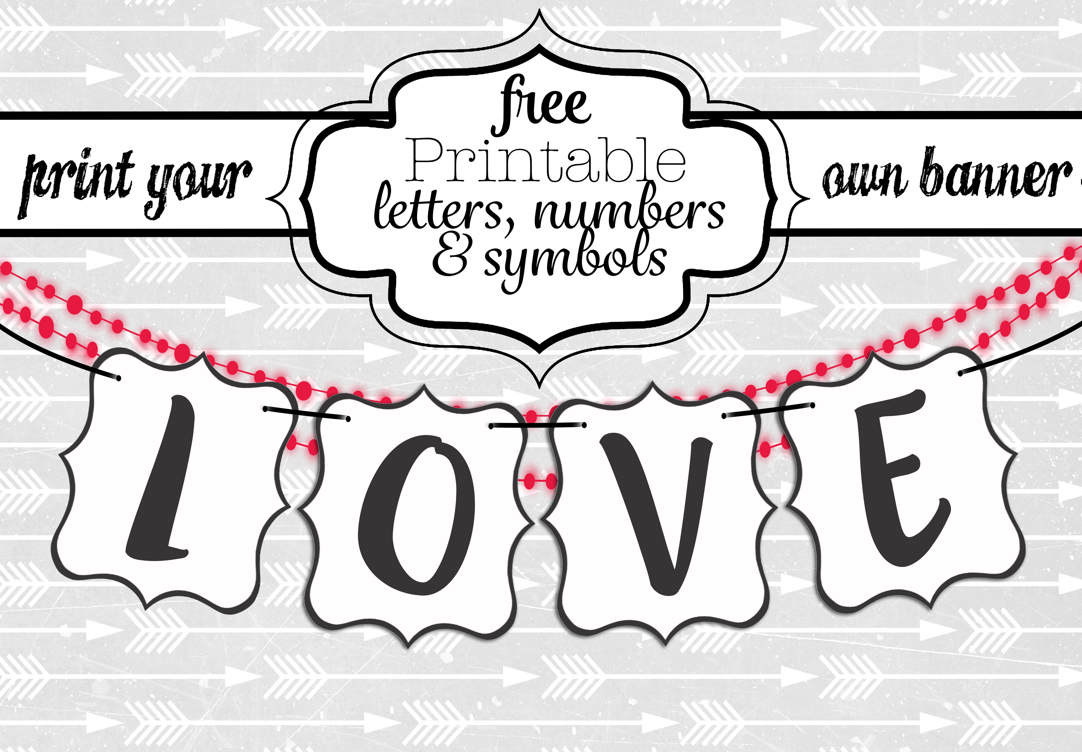 Free Printable Black And White Banner Letters Swanky Design Company Free Printable Letters Printable Banner Letters Banner Letters
