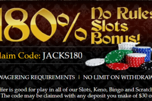 Captain Jack Casino Slots 180 Deposit Bonus No Rules No Limits