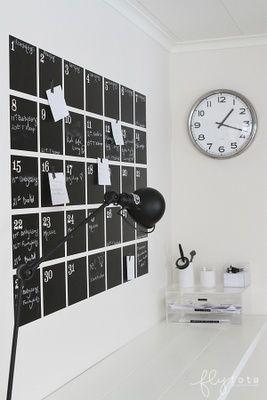 Helt nye tavle-kalender-tavlelak-planner-kontor-indretning-bolig-colorama DW-89