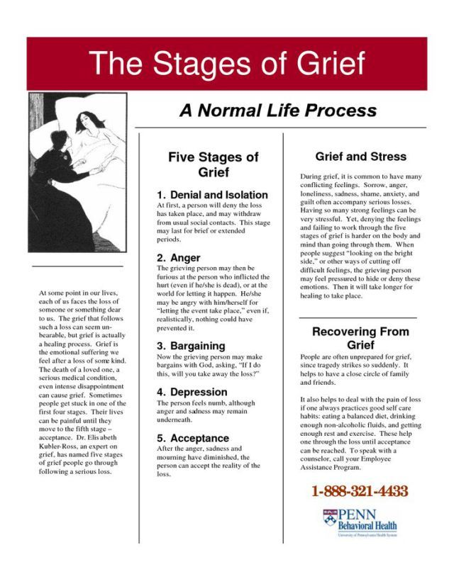 Stress management : Grief And Loss Worksheets   Grief Worksheet