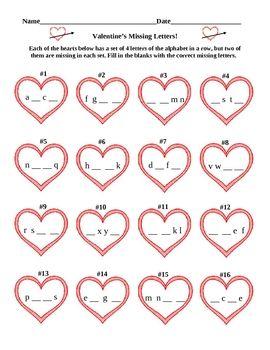 valentine 39 s day alphabet free valentine 39 s valentine activities valentines alphabet. Black Bedroom Furniture Sets. Home Design Ideas