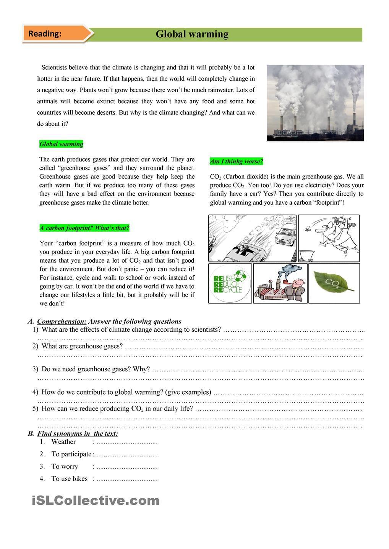 Environment Com Imagens Atividades De Ingles