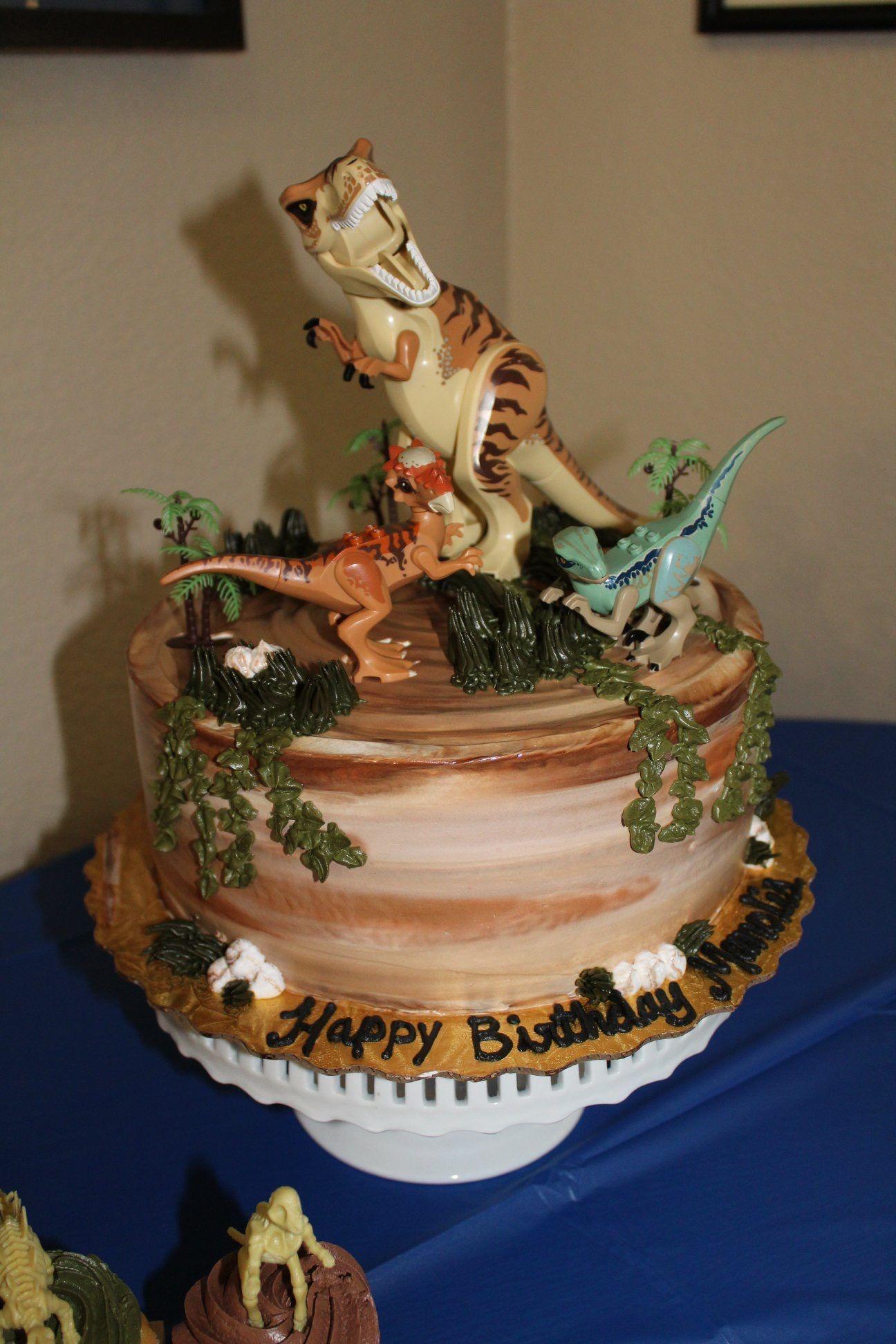 Jurassic World Cake Jurassic World LEGO Dinosaur Cake in