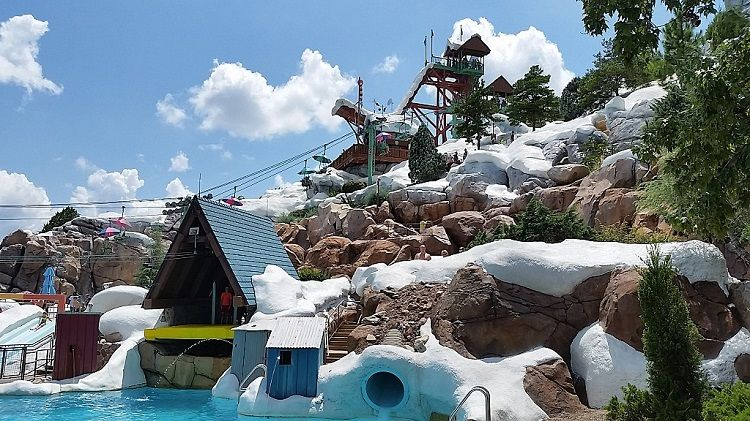 Attractions at Blizzard Beach water park