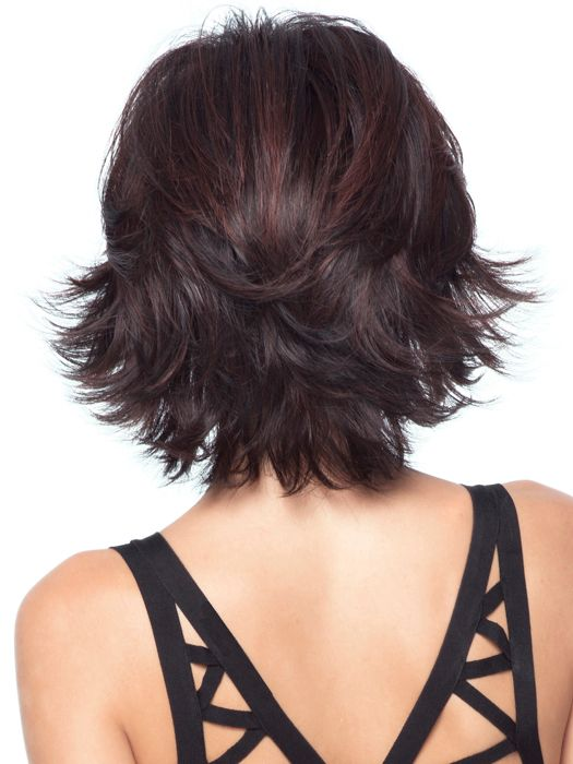 Allure is a sexy mid-length shag with shoulder length